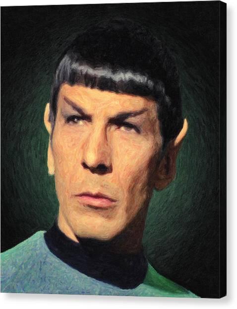 James T. Kirk Canvas Print - Spock by Taylan Apukovska