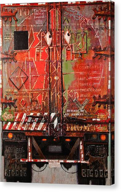 Spoleto Truck Canvas Print