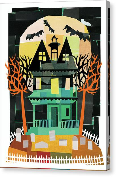 Haunted House Canvas Print - Spooks II by Michael Mullan