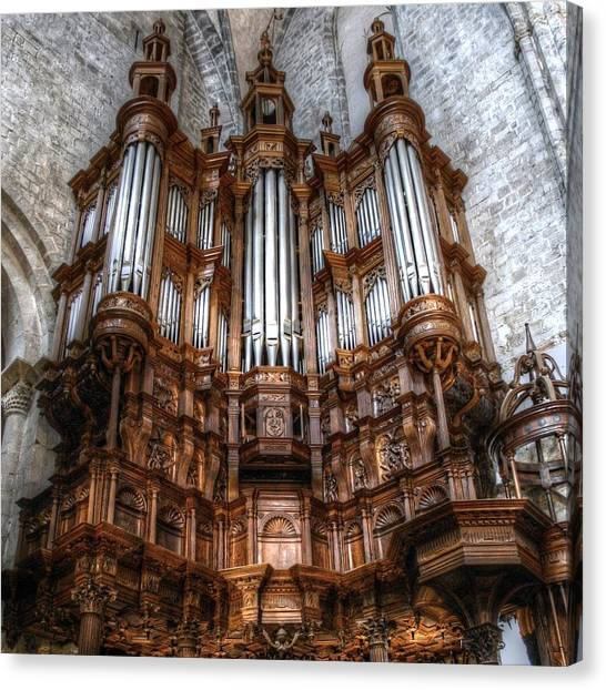 Spooky Organ Canvas Print
