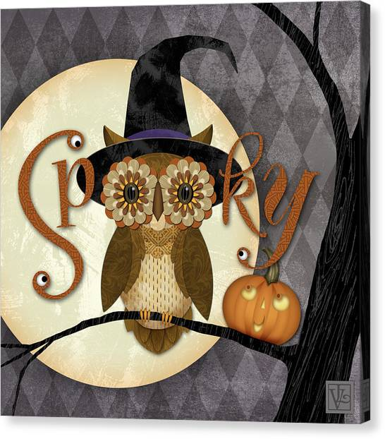 Spooky Owl Canvas Print