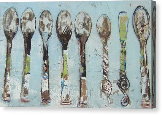 Spoons Canvas Print by Debbie Clarke