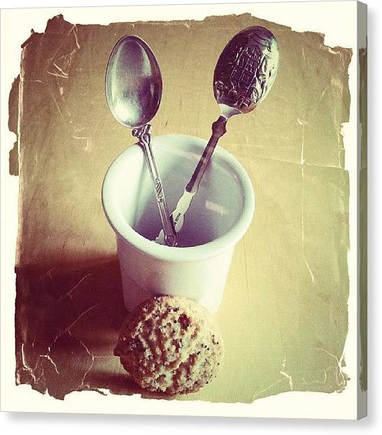 Tables Canvas Print - Spoons In A Pot by Barbara Orenya