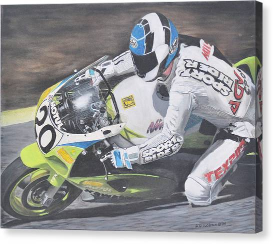 Sport Rider Canvas Print by Denis Gloudeman