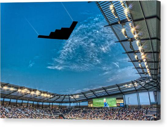 Sporting Kansas City Canvas Print - Sporting Flyover by Corey Cassaw