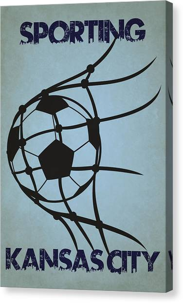 Sporting Kansas City Canvas Print - Sporting Kansas City Goal by Joe Hamilton