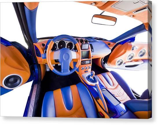 Sports Car Interior Canvas Print by Ioan Panaite