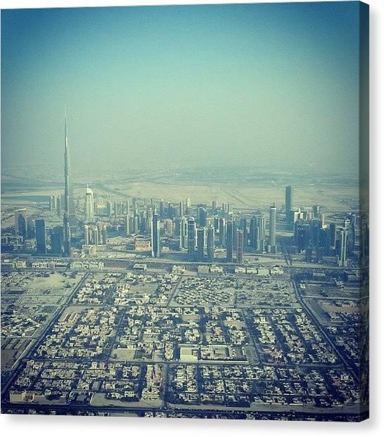 Seaplanes Canvas Print - Spot The Burj Khalifa #tallesttower by Bob Sheehan