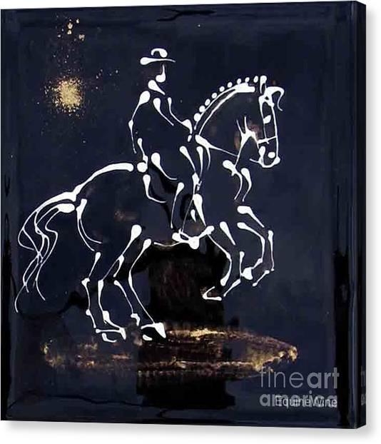 Spotlight Lusitano Canvas Print by Diane Schell