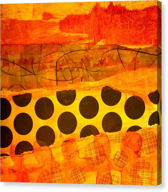 Tangerine Canvas Print - Spotted Sunset by Nancy Merkle