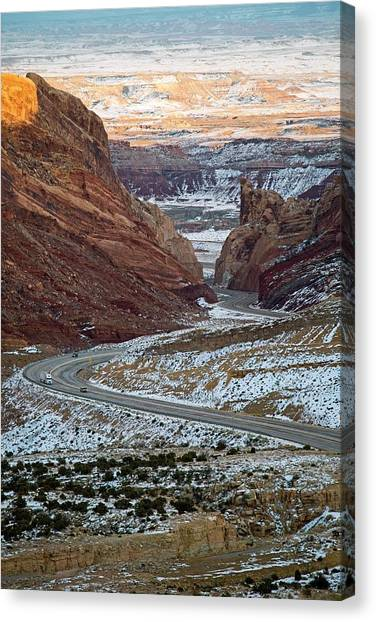 Interstates Canvas Print - Spotted Wolf Canyon by Jim West