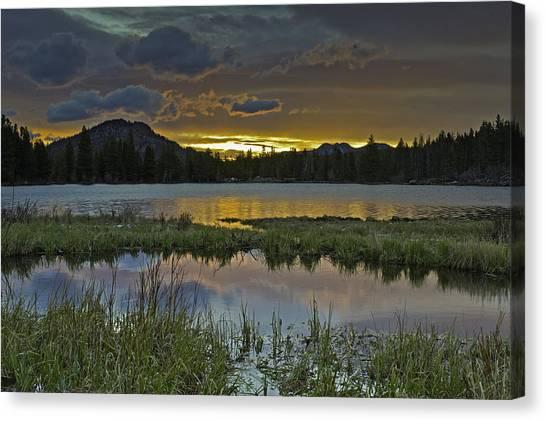 Sprague Lake Sunrise Canvas Print by Tom Wilbert