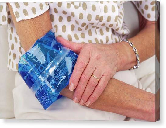 Sprained Elbow Canvas Print by Lea Paterson/science Photo Library