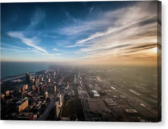 Sprawling City Looking South Canvas Print