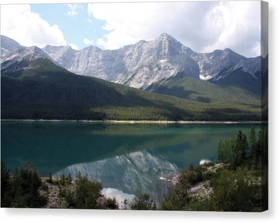 Spray Lake  Canvas Print by Carolyn Ardolino