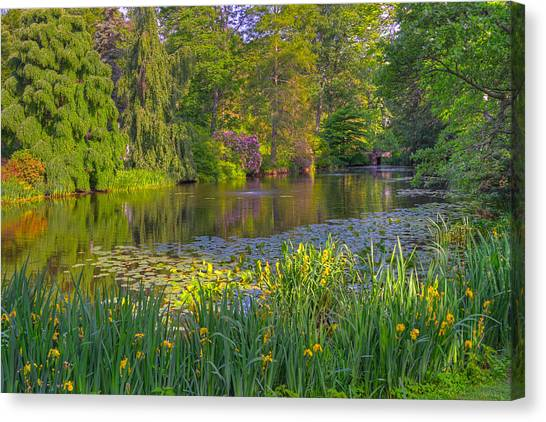 Spring Morning At Mount Auburn Cemetery Canvas Print