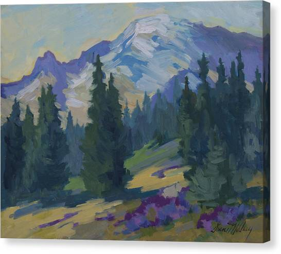 Mount Rainier Canvas Print - Spring At Mount Rainier by Diane McClary