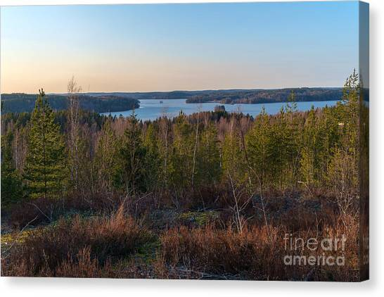 Spring At The Lake Hiidenvesi Canvas Print