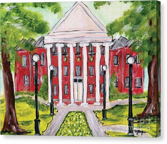 University Of Mississippi Ole Miss Canvas Print - Spring At The Ole Miss Lyceum  by Tay Morgan