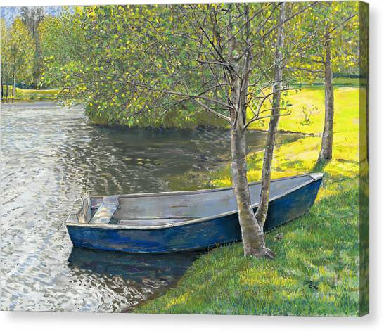 The Blue Rowboat Canvas Print