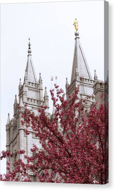 Saints Canvas Print - Spring At The Temple by Chad Dutson
