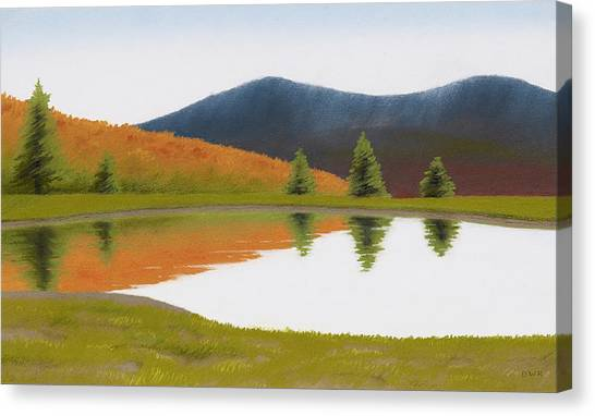Spring At Three Sisters Pond Canvas Print by Bruce Richardson