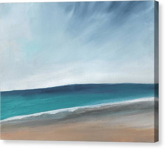 Iphone Case Canvas Print - Spring Beach- Contemporary Abstract Landscape by Linda Woods