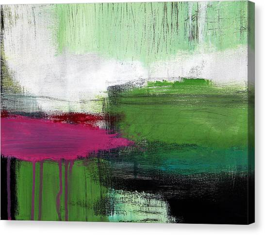 Abstract Expressionist Canvas Print - Spring Became Summer- Abstract Painting  by Linda Woods