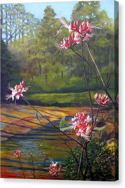 Canvas Print featuring the painting Spring Blooms On The Natchez Trace by Jeanette Jarmon