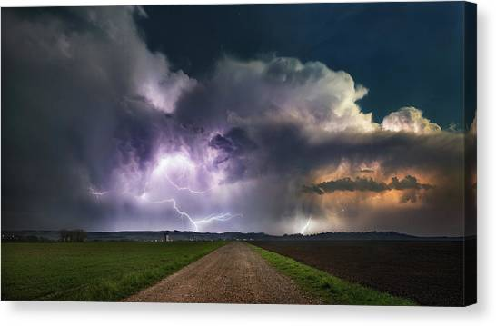 Lightning Canvas Print - Spring by Burger Jochen