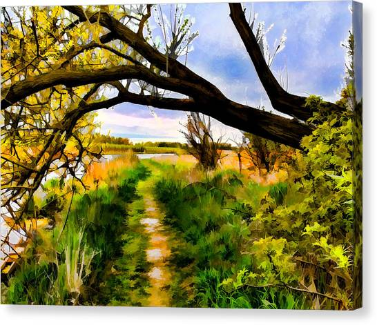 Canvas Print featuring the photograph Spring Colours  By Leif Sohlman by Leif Sohlman