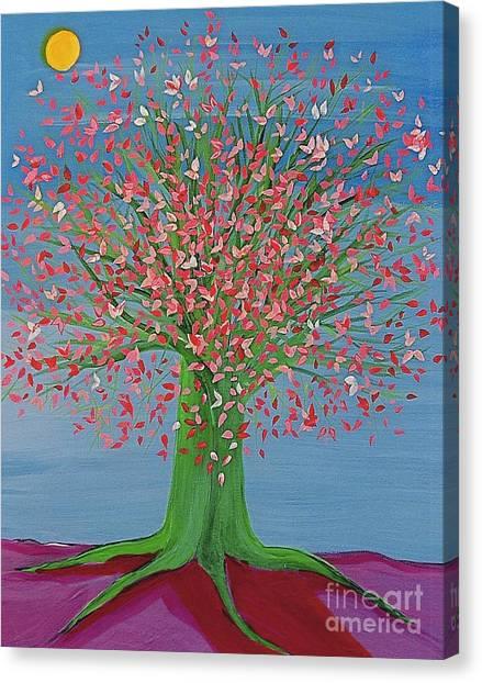 Spring Fantasy Tree By Jrr Canvas Print