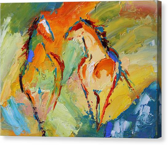 Canvas Print - Spring Fever Horse 14 2014 by Laurie Pace