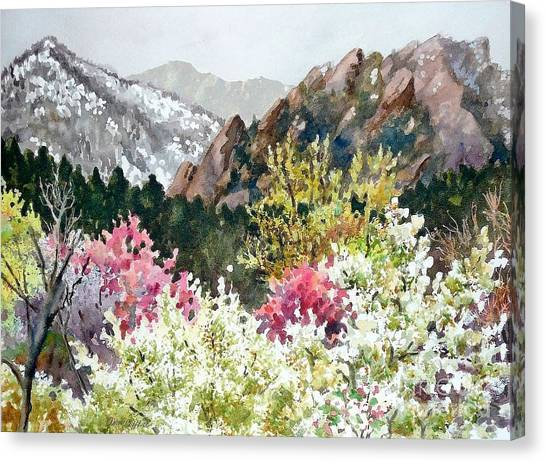 Colorado Canvas Print - Spring Flatirons by Anne Gifford
