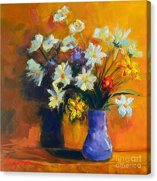 Spring Flowers In A Vase Canvas Print