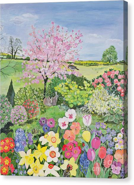 In Bloom Canvas Print - Spring From The Four Seasons  by Hilary Jones