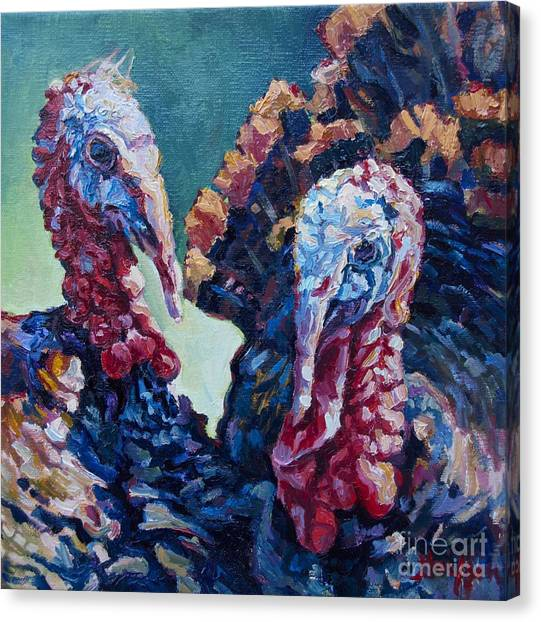 Spring Gobblers Canvas Print