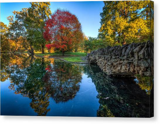 Spring Grove In The Fall Canvas Print