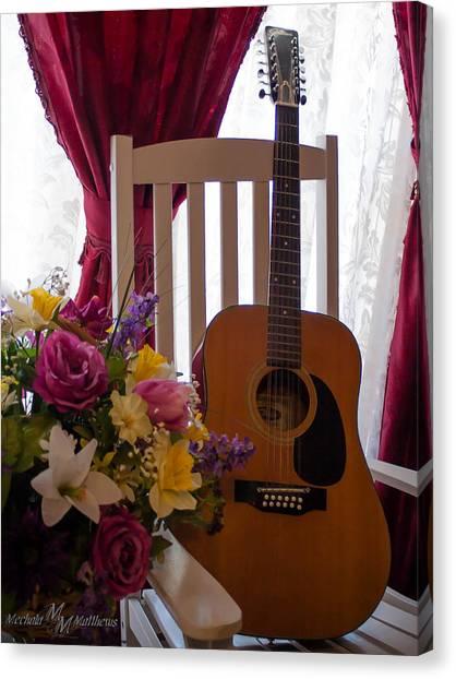 Spring Guitar Canvas Print