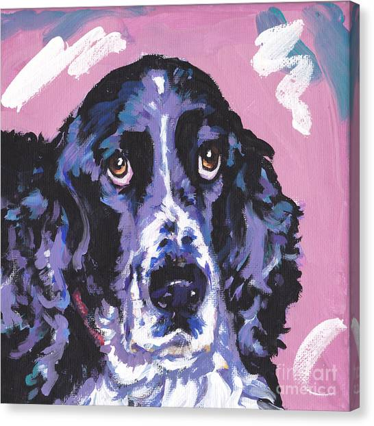 Springer Spaniel Canvas Print - Spring Has Sprung by Lea S