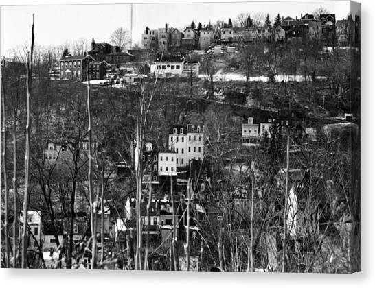 Spring Hill From Troy Hill In Pittsburgh Canvas Print by Eric Miller