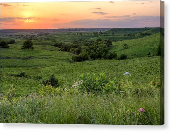 Rolling Hills Canvas Print - Spring In The Flint Hills by Scott Bean