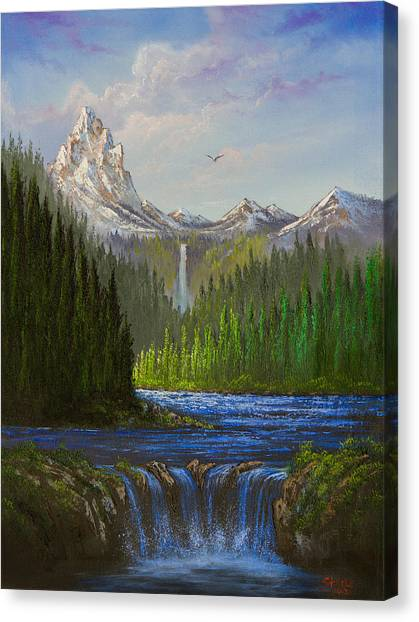 Bob Ross Canvas Print - Spring In The Rockies by Chris Steele