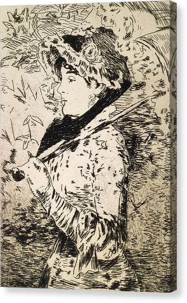 Female Canvas Print - Spring   Jeanne by Edouard Manet