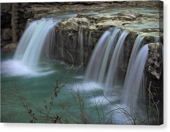 Spring King River Arkansas Canvas Print by Cindy Rubin