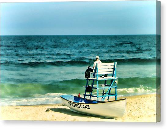 Lifeguard Canvas Print - Spring Lake by Olivier Le Queinec