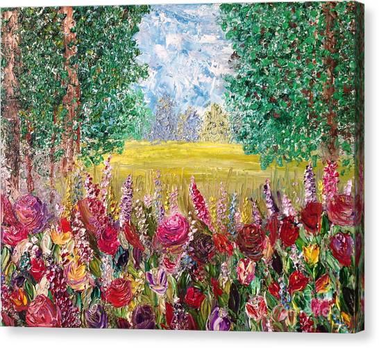 Spring Meadows Canvas Print by Janie Kraemer