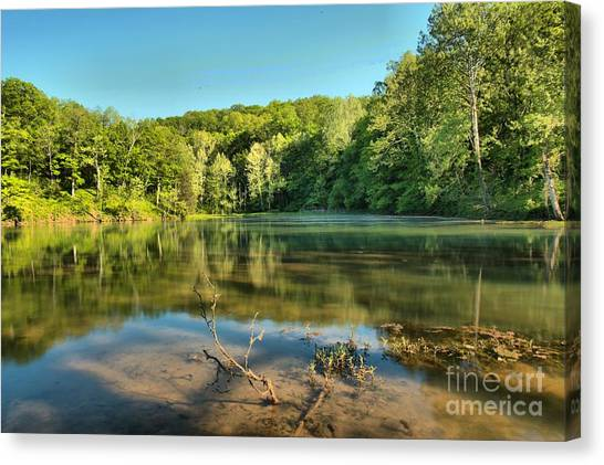 Spring Mill Lake Canvas Print