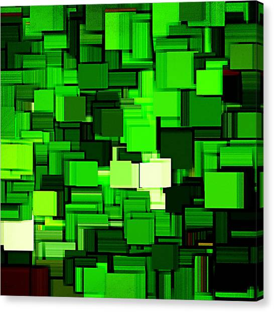 Spinach Canvas Print - Spring Modern Abstract Xiv by Lourry Legarde