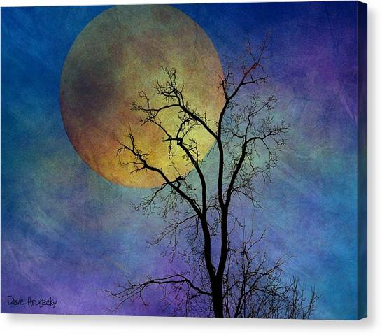 Spring Moon Canvas Print by Dave Hrusecky